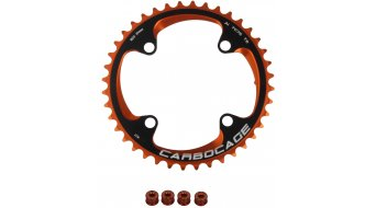 Carbocage Chain Ring Set 40T 4-Loch (104mm) orange inkl. 4 Kettenblattschrauben