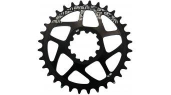 Gamut Racering Direct Mount plato para GXP-rodamiento/casquillo pedalier anodizado duro negro