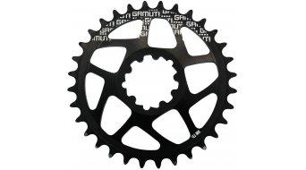 Gamut Racering Direct Mount plato para BB30-rodamiento/casquillo pedalier anodizado duro negro