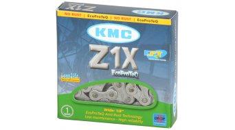 KMC Z1X cadena cadena 1-velocidades 112 eslabones color plata