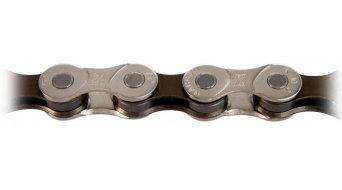 KMC Z8 S cadena cadena 8-velocidades 116 eslabones color plata/marrón (para MTB, bici carretera, Trekking, City)