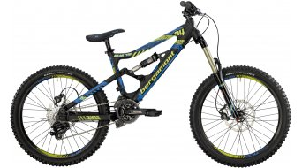 """Bergamont Big Air Tyro 24"""" kids bike size S black/cyan/neon yellow (matt) 2014"""