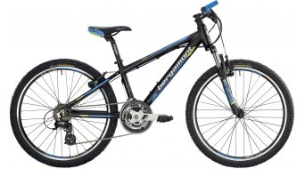 "Bergamont Team Junior 24"" kids bike size 32cm black/cyan/neon yellow (matt) 2014"