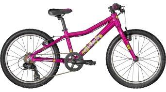 """Bergamont Bergamonster Girl 20"""" 儿童 整车 型号 28厘米 粉色/茄子紫色/white (shiny) 款型 2018"""
