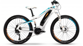 Haibike SDURO HardFour Life 24 MTB E-Bike Kinderrad Gr. 34cm weiß/cyan/orange matt Yamaha-Antrieb Mod. 2016