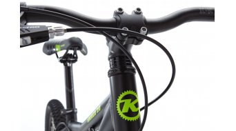 KONA Shred 20 bici completa mis. 11 opaco black/green mod. 2016