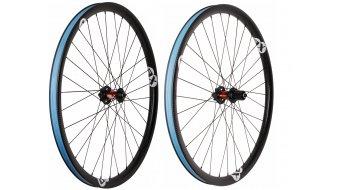 AX Lightness standard MTB 29 Clincher Tubeless disc wheel set 32/32h black/white/3K-carbon (Shimano/SRAM- freewheel