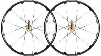 Crank Brothers Cobalt XC/Race Laufradsatz schwarz/gold Mod. 2010 - VORFÜHRTEIL - kleine Lackabschürfung an der Bremsscheibenaufnahme am HR, OHNE SCHNELLSPANNER!