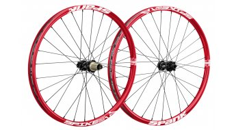 Spank Spike Race Enduro Disc 26 set ruote ant+post (ruota anteriore : 15+20mm/ruota posteriore : QR+12x142mm) red
