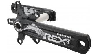 ROTOR REX 3.2 MTB 2-fach Kurbel 24mm-Welle (110/60mm) schwarz/silber