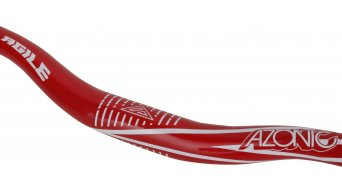 Azonic Agile manubrio 31.8x780mm 1-Rise paint metal/flake red mod. 2016