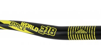 Azonic World Force 318 manillar 31.8x750mm 18mm-Rise negro/color neón amarillo Mod. 2016