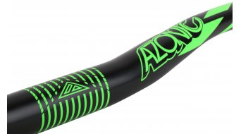 Azonic World Force 318 manillar 31.8x750mm 18mm-Rise negro/color neón verde Mod. 2016