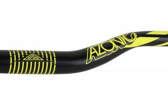 Azonic World Force 318 manillar 31.8x750mm 36mm-Rise negro/color neón amarillo Mod. 2016