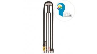 Lezyne Micro Floor Drive HV bomba manual bomba de aire bomba de taller (sin manómetro) color plata