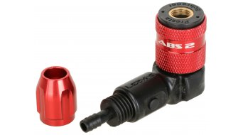 Lezyne ABS-2 Chuck Pumpenkopf High Pressure rosso
