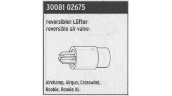 SKS pieza de recambio Lüfter reversible para Airchamp, Airgun, Crosswind, Rookie (XL)