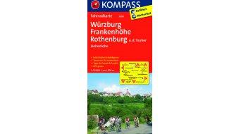Kompass rouewandercarte Deutschland Würzburg/Frankenhöhe/Rothenburg- 1:70.000