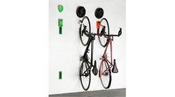 Beispiel für eine Fahrradaufhängung, hier der Cycloc Fahrradhalter, Fahrrad Wandhalterung