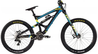 Bergamont Straitline Team 26/27.5 MTB bike men-wheel black/cyan/neon yellow matt 2015
