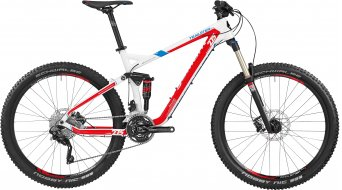 Bergamont Trailster 6.0 27.5 MTB bike mens version pearl white/red/blue 2016