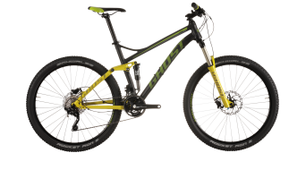 Ghost Kato FS 3 650B/27,5 MTB bike black/limegreen/grey 2015