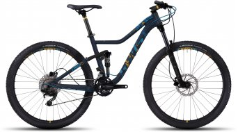 Ghost Lanao FS 2 AL 650B / 27.5 MTB Komplettrad Damen-Rad night blue/arctic blue/amber yellow Mod. 2017