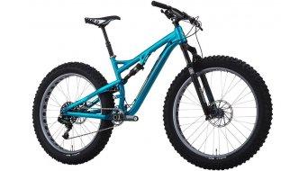 Salsa Bucksaw 1 Fatbike bici completa tamaño M transparente azul BICI DE PRUEBA