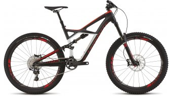 Specialized S-Works Enduro FSR Carbon 650B MTB Komplettbike carbon/dirty white/rocket red Mod. 2015