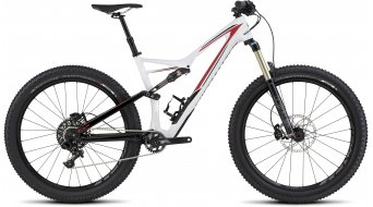 Specialized Stumpjumper FSR Comp Carbon 6Fattie 650B+ / 27.5+ MTB Komplettbike gloss/white/black/red Mod. 2016 - TESTBIKE