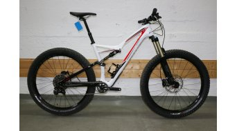 Specialized Stumpjumper FSR Comp Carbon 6Fattie 650B+ / 27.5+ MTB Komplettbike Gr. L gloss/white/black/red Mod. 2016 - TESTBIKE