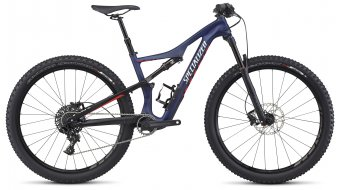 Specialized Camber WMN FSR Comp Carbon 650B / 27.5 MTB Komplettbike Damen-Rad Gr. M nibali blue/nordic red/flake silver Mod. 2017