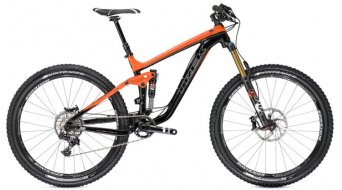 "Trek Slash 9 E 650B bike size 47cm (18.5"") black/rhymes with orange 2014"