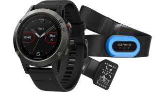 Garmin fenix 5 GPS Multisportuhr Performer Bundle 含有Premium HRM-Run 胸带