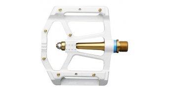 HT Air Evo ME 02 dientes Magnesio Titan Flat pedales blanco