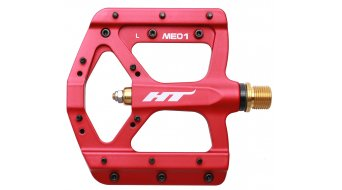 HT Air Evo ME 01T Magnesium Titan Flat Pedale red