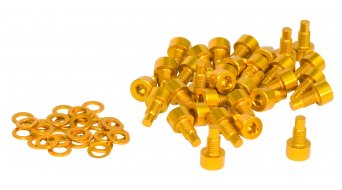 NC-17 Ersatzpins CNC AL-7075 M4x8mm 32Stück gold
