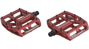 Specialized Bennies Plattform Pedale red anodized