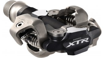 MTB clipless pedals, here from Shimano