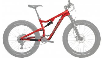 "Salsa Bucksaw carbone 26"" Fatbike cadre taille transparent red Mod. 2016"