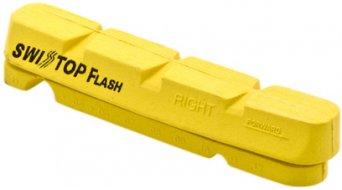 SwissStop Felgen Bremsbeläge Flash Yellow King gelb Shimano/SRAM für Carbonfelgen (4 Stk.)