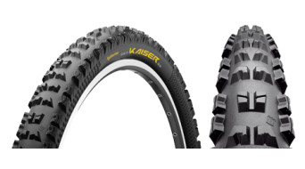 Continental the Kaiser Apex wire bead tire 62-559 (26x2.50) black 6/360tpi BlackChili-compound