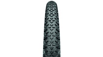 Continental Race King folding tire set 55-559 (26x2.20) black Skin 4/240tpi BlackChili-compound Made in Germany (incl. Light- tubes )