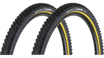Continental X-King RaceSport 29inch Limited Edition folding tire 55-622 (29x2.2) black- yellow/logo silver 3/180tpi BlackChili-compound- 2- tire set