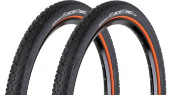 Continental Race King RaceSport Limited Edition cubierta(-as) plegable(-es) 55-559 (26x2.2) negro(-a)-naranja/Logo color plata 3/180tpi BlackChili-Compound- 2 uds.-Reifenset