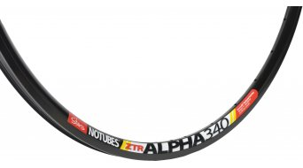 NoTubes ZTR Alpha 340 disc road bike rim hole black