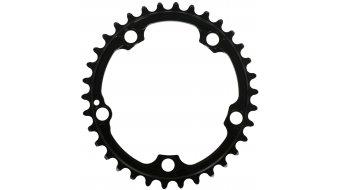 Absolute Black Premium 2x ovales Rennrad Kettenblatt 5-Loch (110mm) für SRAM Kurbel