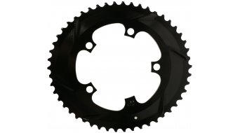absolute Black Premium 2x ovales bici carretera plato Zähne 5 agujeros (110mm) para SRAM biela