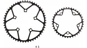 Extralite OctaRamp CH2 10/11-fach Kettenblätter Set, 5-Arm (110mm), 53/39 Zähne, schwarz