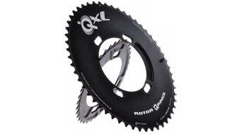 ROTOR QXL-Ring Shimano Aero 2x11 Kettenblatt 4-Loch (110mm) schwarz (außen)